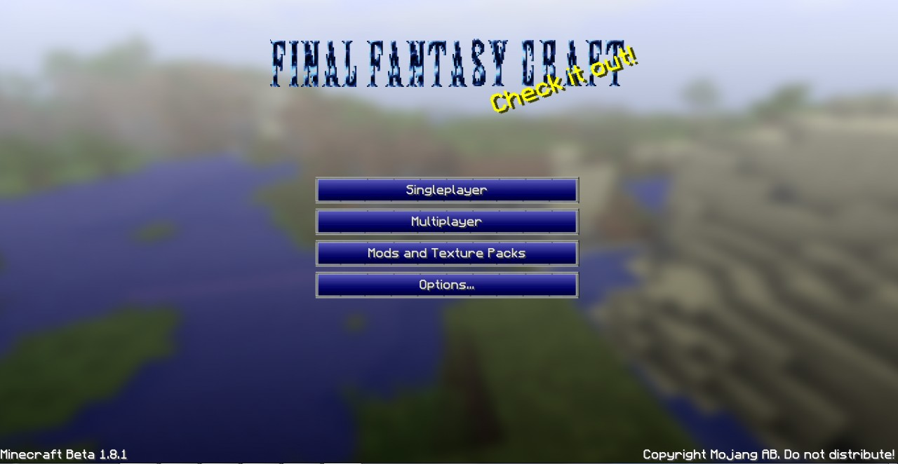 Final Fantasy Craft Minecraft Texture Pack