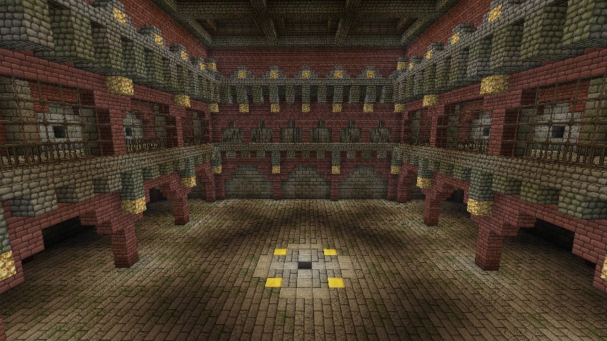 Underground Baroque Style Mob Arena Minecraft Project