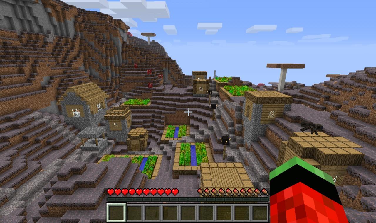 Mushroom Biome NPC Village Minecraft Project