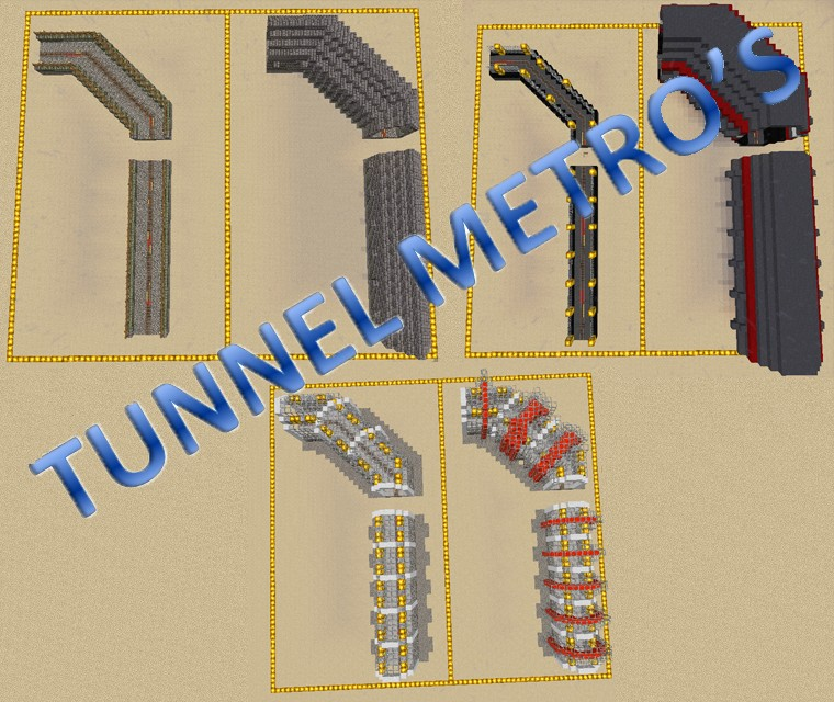 TUNNEL METRO DESIGNS Minecraft Project
