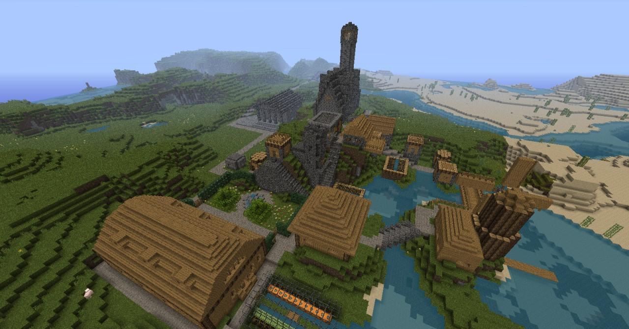 St Testificate Improved Npc Village W Epic Church Minecraft Project