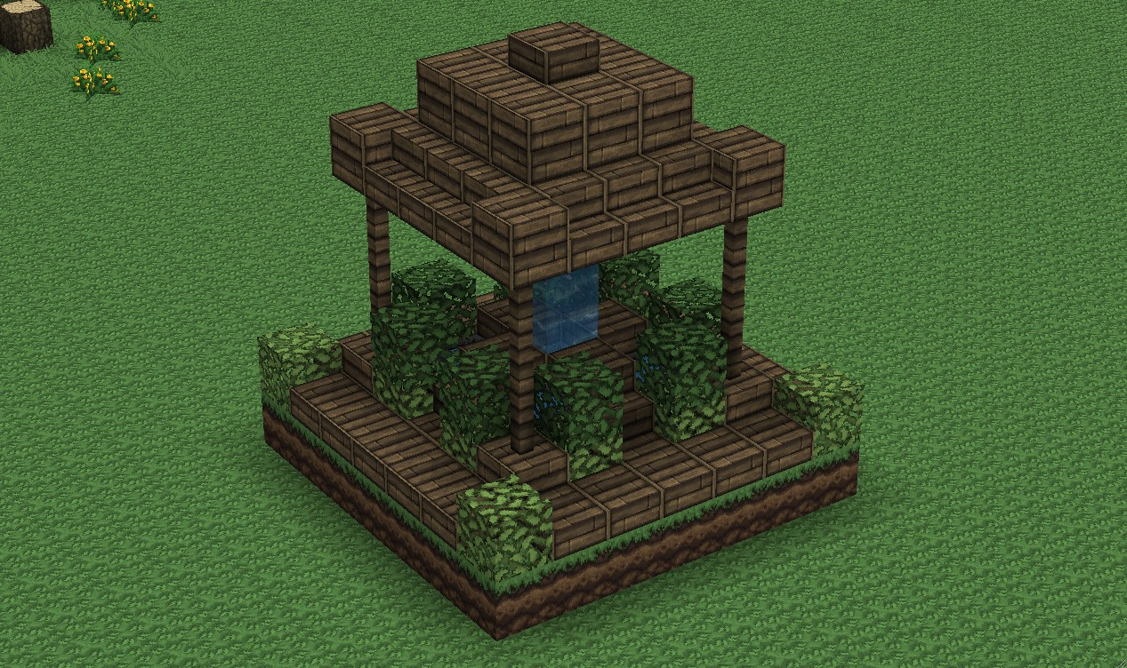 Small Wood Fountain Minecraft Project