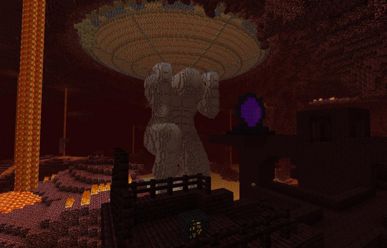 Atlas Statue Minecraft Project