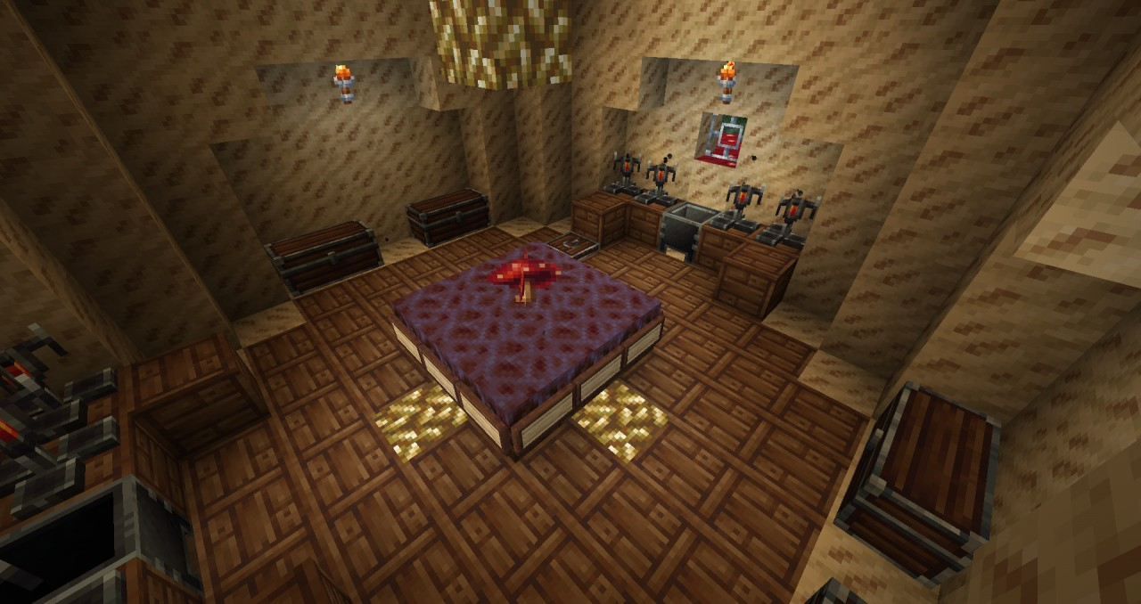 Red Mushroom House Minecraft Project