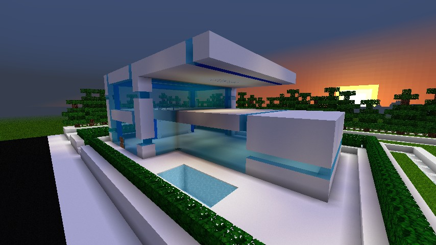 Modern Starter House Unfurnished Minecraft Project
