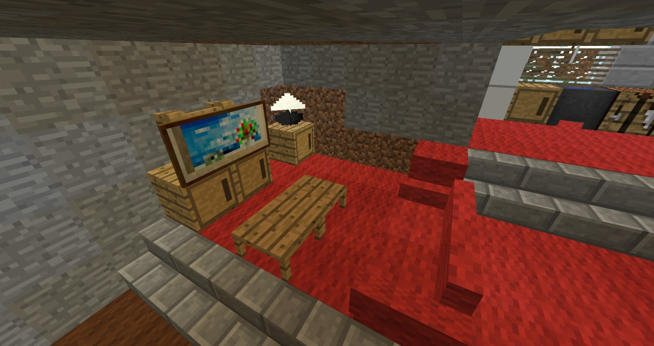 Hidden House With FURNITURE Minecraft Project