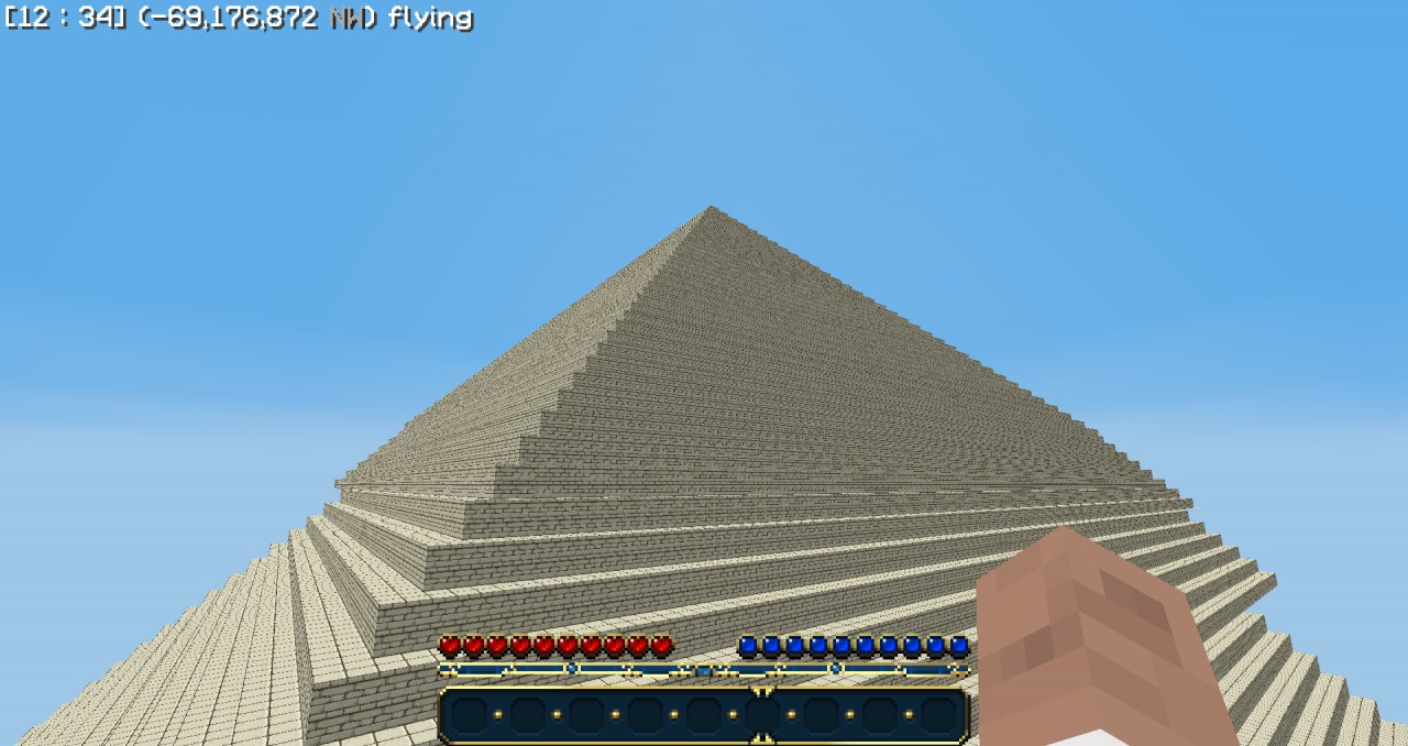 Epic 400x400x255 Pyramid With An Entire City Inside Half Ancient Pyramid Half Zombie Survival