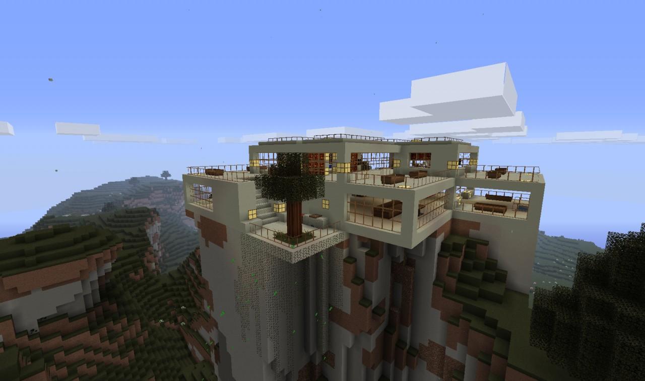 UPDATE Modern Hill Top House Minecraft Project