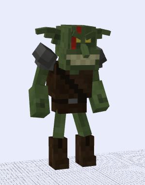 Mob Goblin Model Minecraft Project