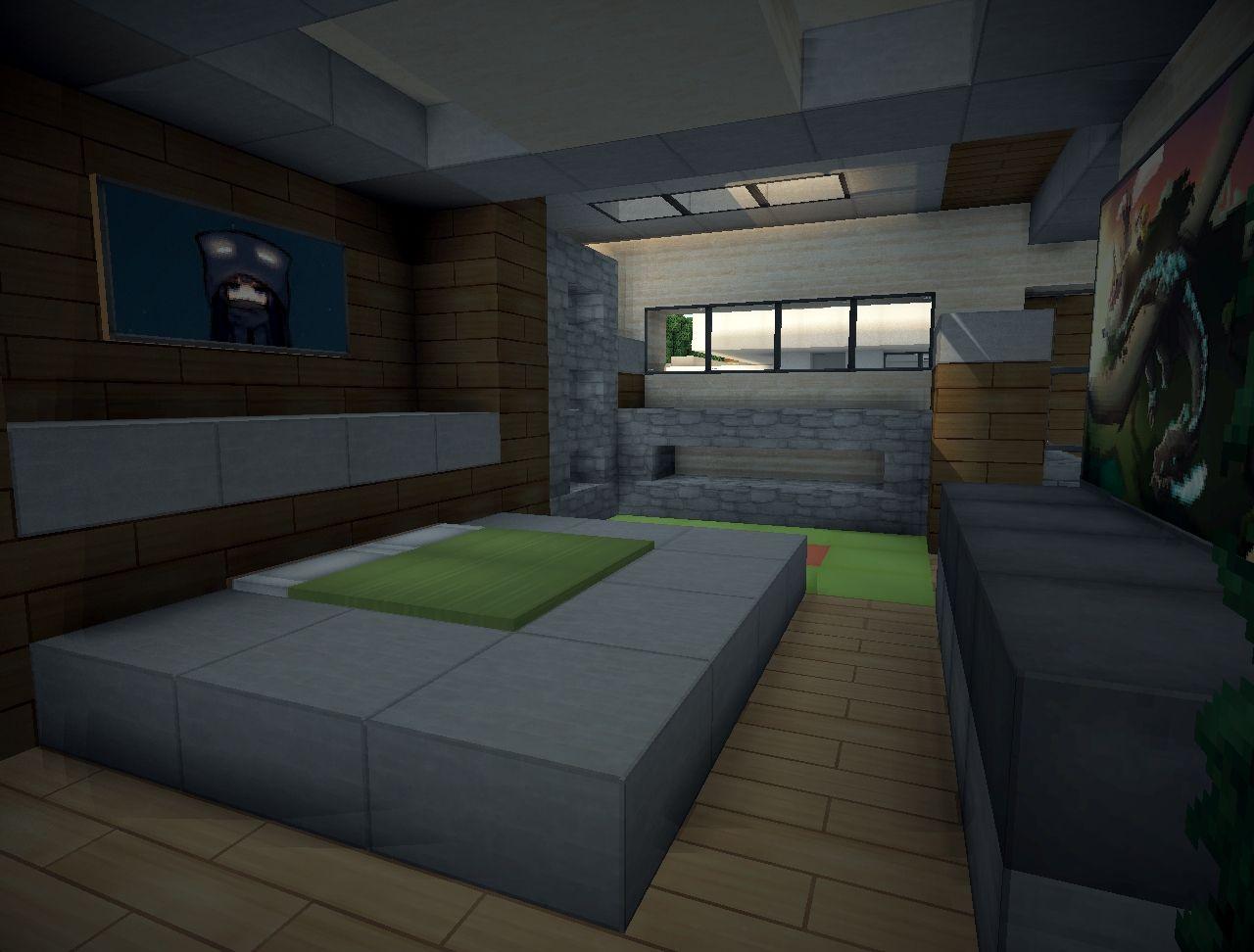 Modern Bedroom Ideas Minecraft Novocom Top