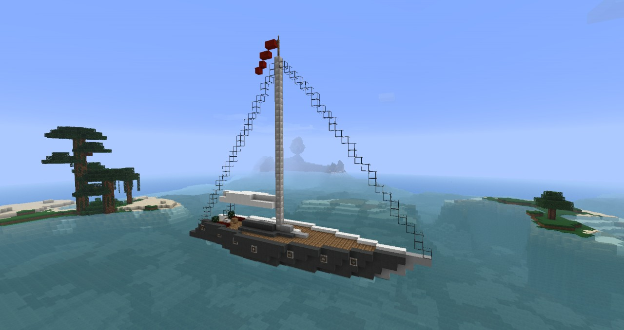 Modern Sail Boat Furnished Minecraft Project