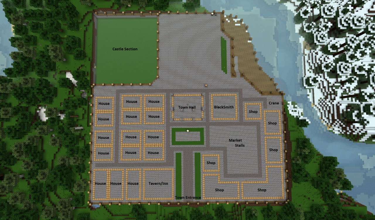 Town Plan Minecraft Project