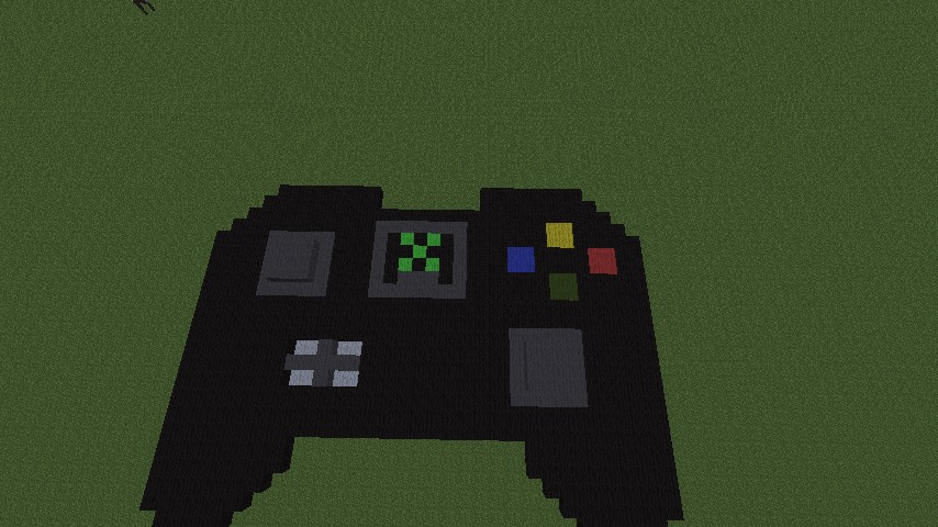 Pixel Art My First Xbox 360 Controller Laying Down Minecraft Project