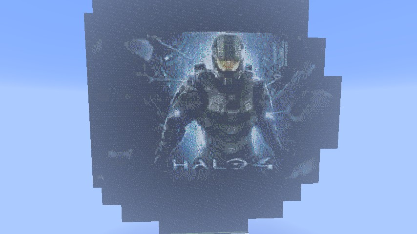 Halo 4 Pixel Art Minecraft Project