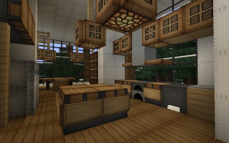 Minecraft Modern Kitchen Design Ideas Related