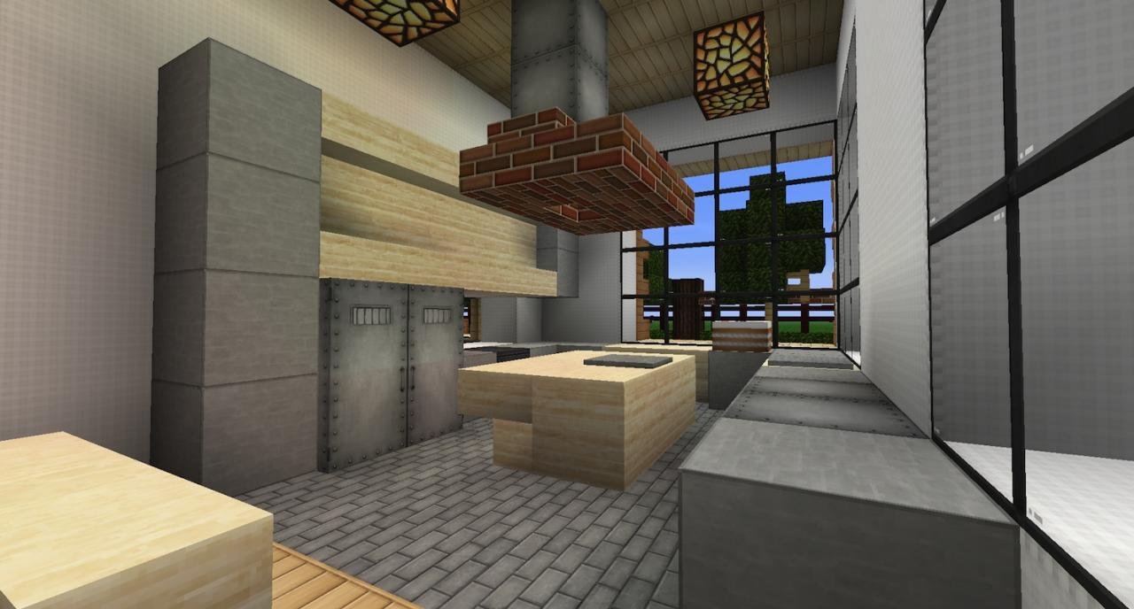Modern Suburban House Minecraft Project