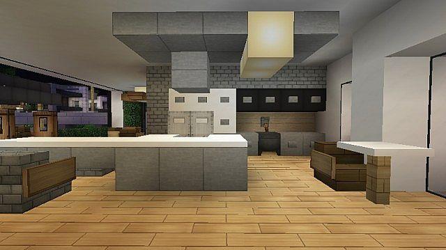 Back Minecraft Modern Kitchen Ideas