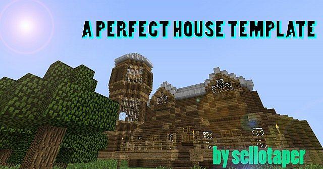 A Perfect House Template A Start Of A House Kinda A Terraformed Superflat World Like A Spawn