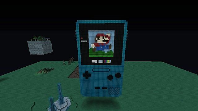 Nintendo Game Boy Colour 3D Model Minecraft Project