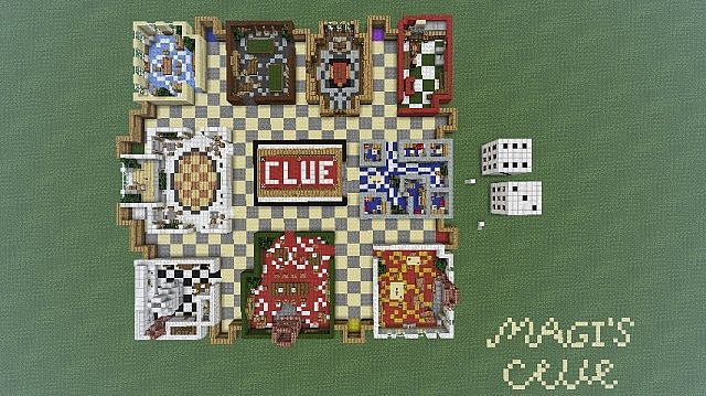 ClueCluedo The Murder Mystery Game Minecraft Project