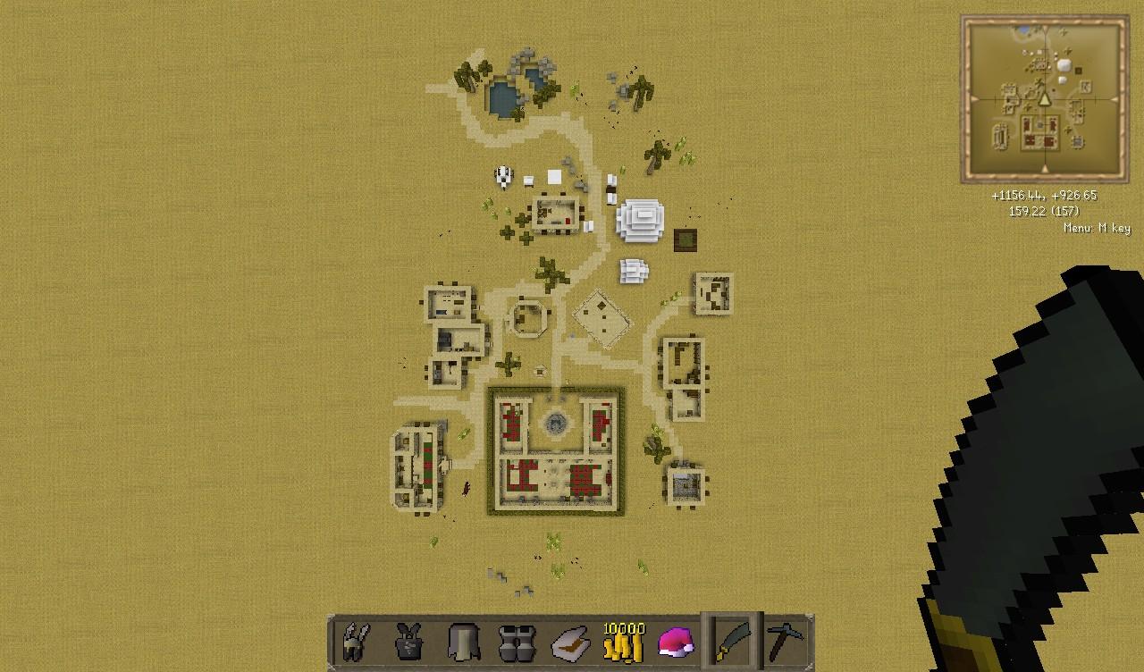 Al Kharid Perfect Scale Map Runescape Minecraft Project
