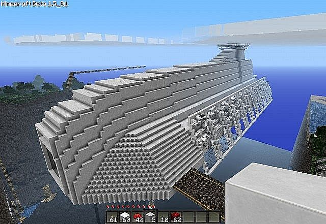 Massive Spaceship Starcruiser Thingy Minecraft Project