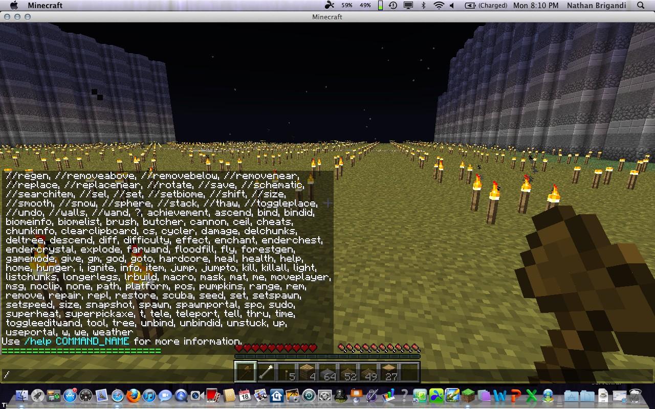 Minecraft Command Codes List