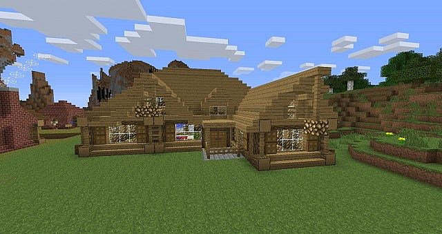 Epic Rustic House With Pool Minecraft Project