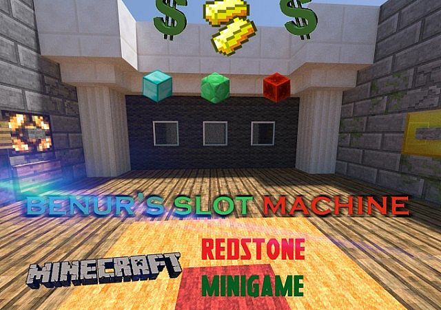 Slot Machine Using Hoppers And Items For Minecraft 162 REDSTONE MINIGAME SCHEMATIC File