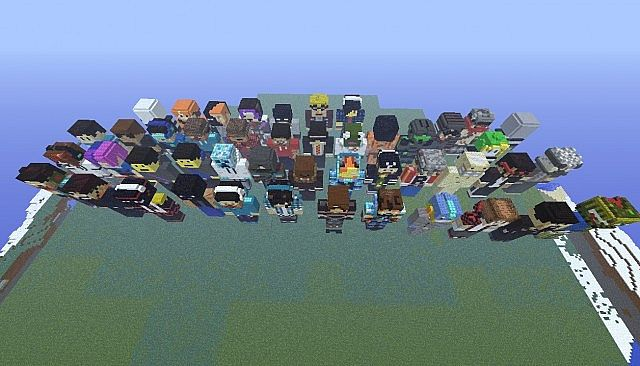 Statues Of Youtubers Minecraft Project