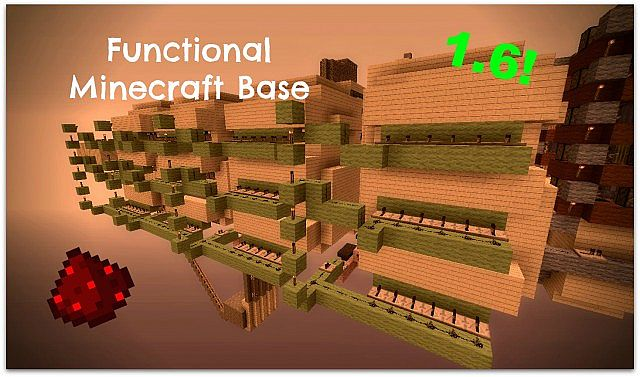 Functional Underground Base For 16 Minecraft Project