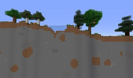 2D BLOCK  Survival map Minecraft Project 2D BLOCK  Survival map  picture from left side