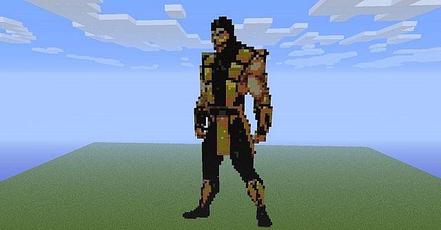 Scorpion Pixel Art Minecraft Project