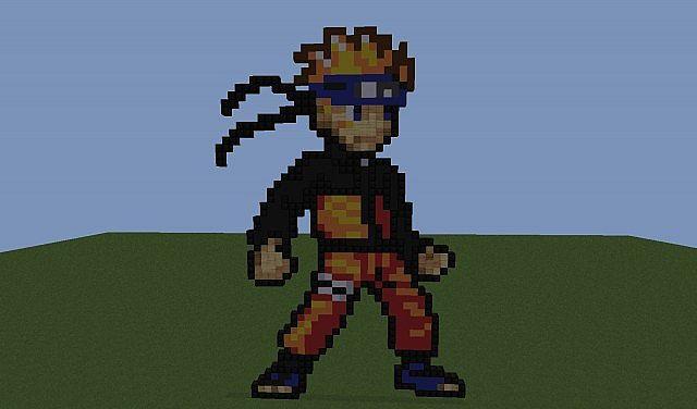 Pixel Art Naruto Minecraft Project