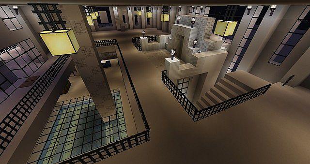 MODERN Huge Mansion And Underground Base Minecraft Project