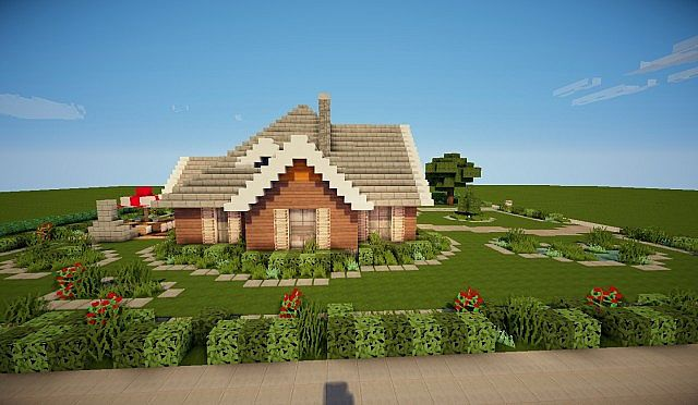 Suburban House Minecraft Project
