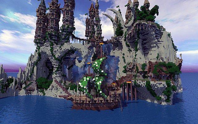 Aerlond Fantasy City Creative Node Contest Minecraft