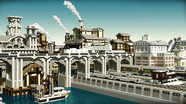Chebucto City Series Industrial Area And Train Yard Minecraft Project