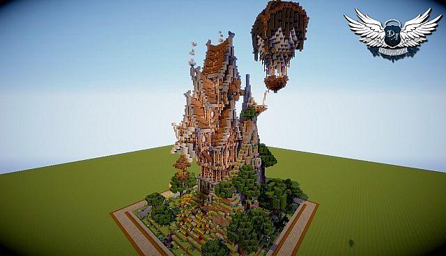MCBuildersCon Plot Cute Steampunk Build Minecraft Project