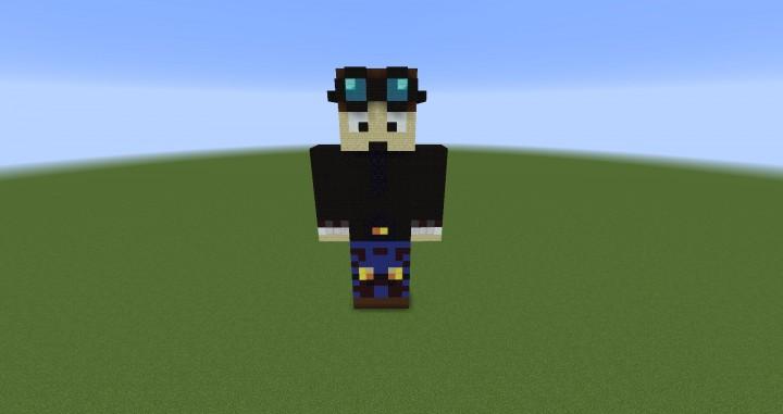 DanTDM Statue Minecraft Project
