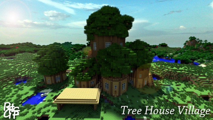 Tree House Village Minecraft Project