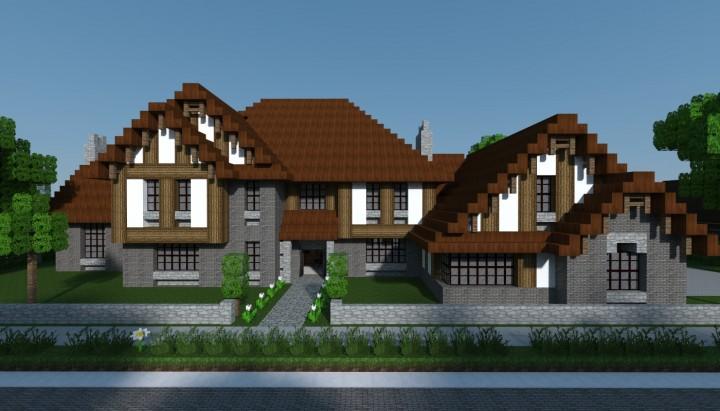 Tudor Style House With Floor Plans Minecraft Map