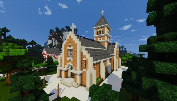 Small Church Petite Eglise Minecraft Project