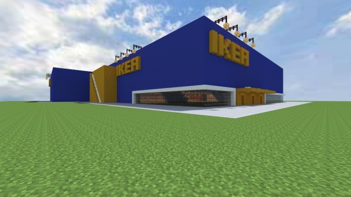 Ikea Furniture Store Over 17 000 Blocks Surface