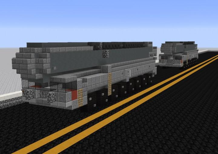 MZKT 79221 Russian Ballistic Missile Truck Erector Minecraft Project