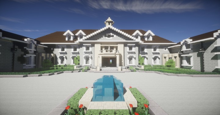 Alpine Mansion Stone Mansion Minecraft Project