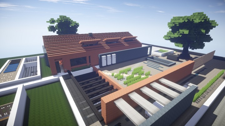 Modern Industrial House Maison Moderne Industriel Minecraft Map