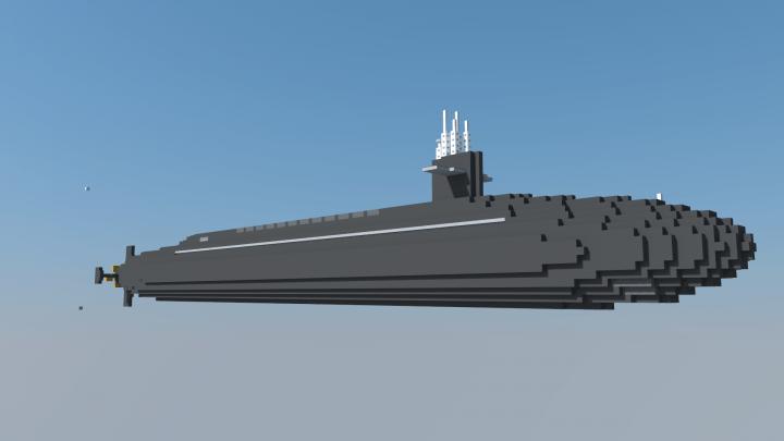 USS Alabama SSBN 731 Minecraft Project