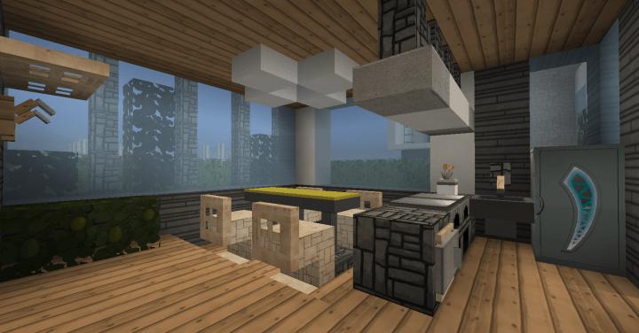 Modern House Set + Interior Minecraft Map