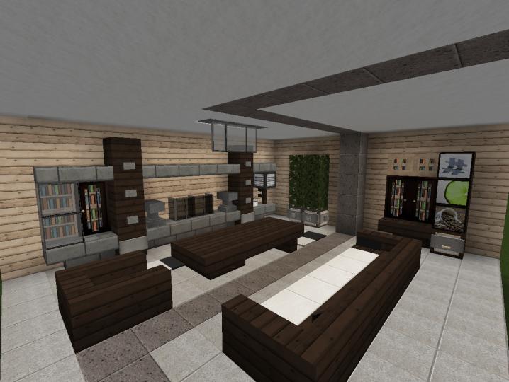 3 Modern Living Room Designs Minecraft Project